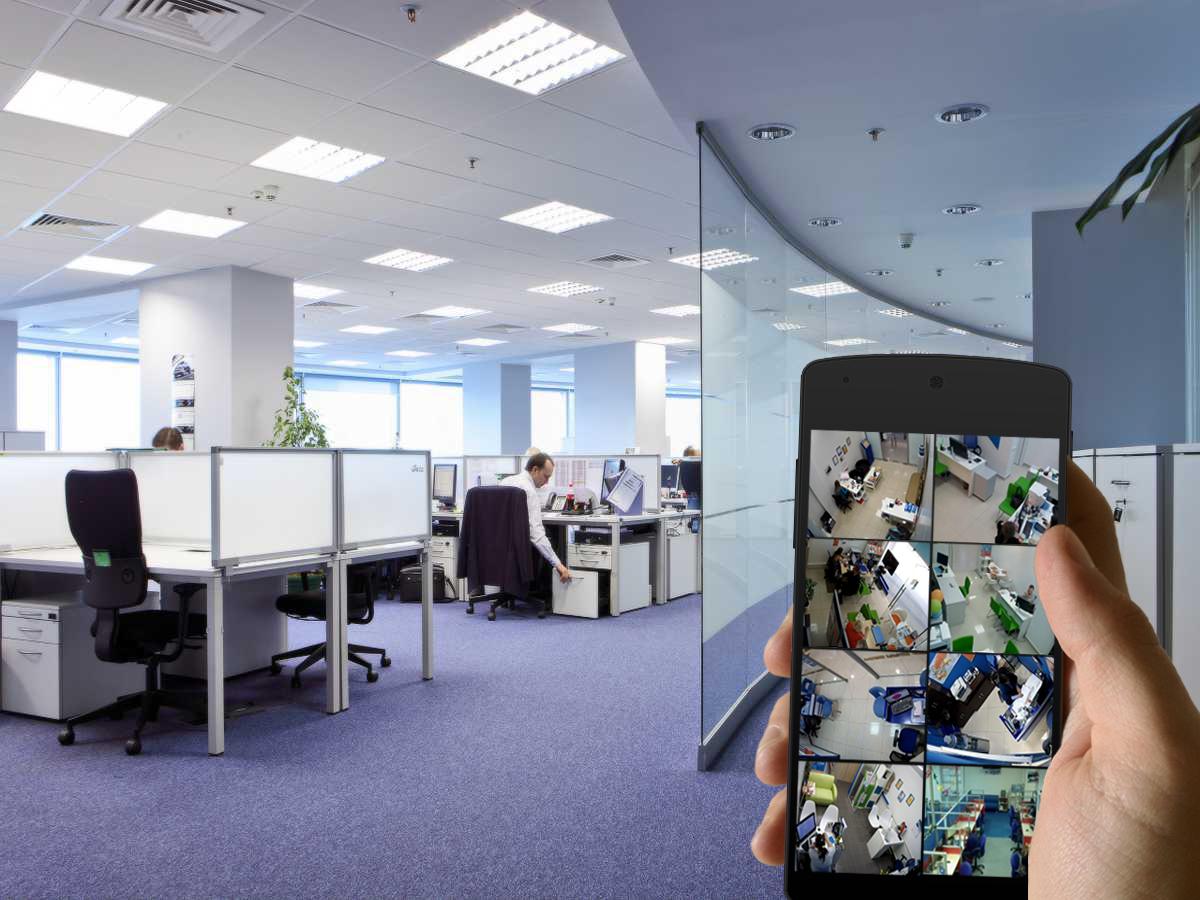 Монтаж системы видеонаблюдения в офисных помещениях